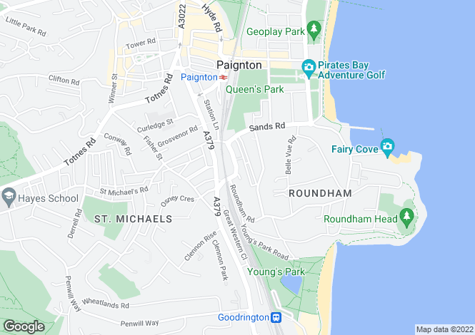 Map for 7 Whitstone Road, Paignton, Devon, Devon