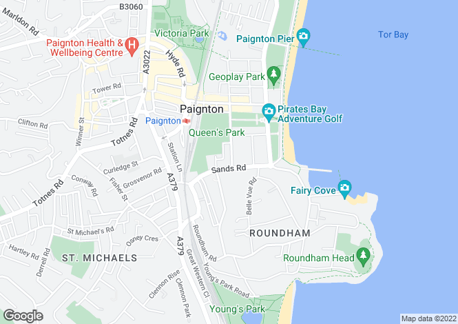 Map for Paignton, Devon