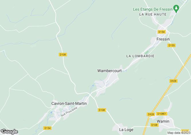 Map for fruges-/-montreuil-s/-mer, Pas-de-Calais, France