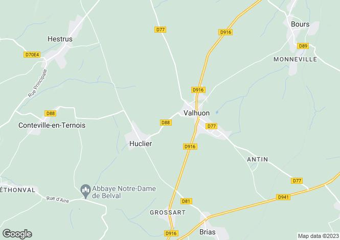 Map for st.-pol-sur-ternoise, Pas-de-Calais, France