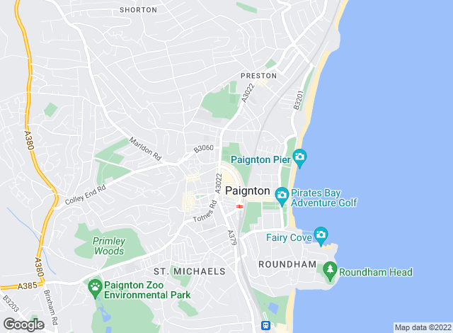 Map for Bradleys Property Rentals, Paignton
