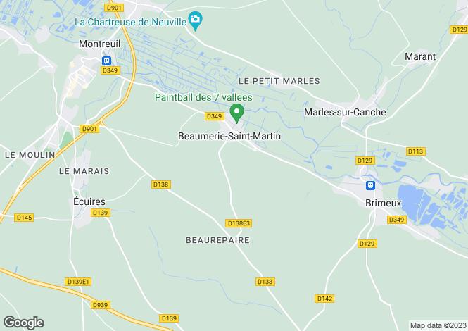 Map for Nord-Pas-de-Calais