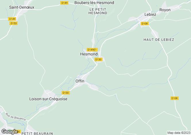 Map for Offin, Pas-de-Calais, Nord-Pas-de-Calais