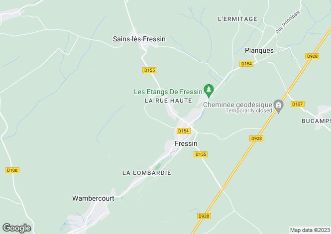 Map for Fressin, Pas-de-Calais, Nord-Pas-de-Calais