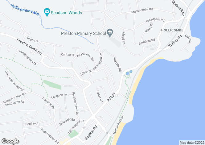 Map for Great Headland Crescent, PAIGNTON
