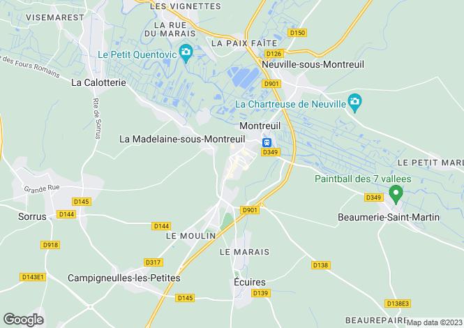 Map for North-Calais, Pas-de-Calais, Estree