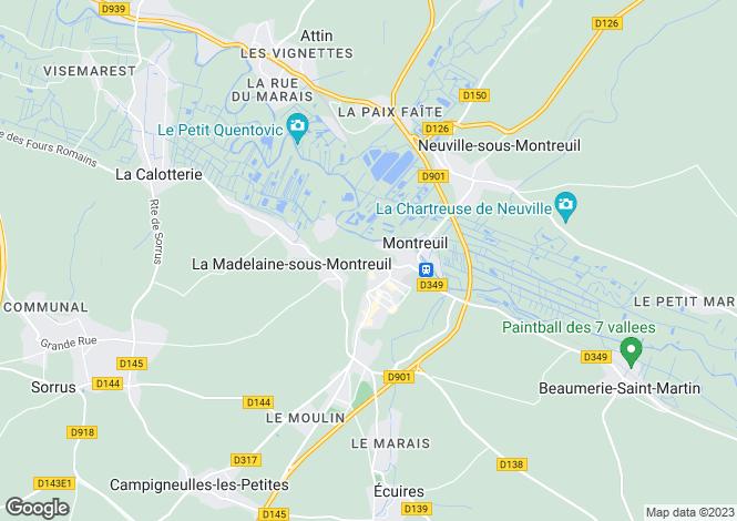Map for Hauts-de-France, Pas-de-Calais, Estree