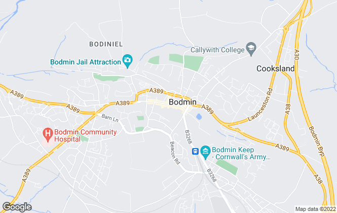 Map for The Property Shop , Bodmin