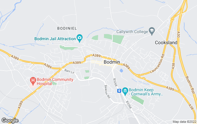Map for Fine & Country, Bodmin