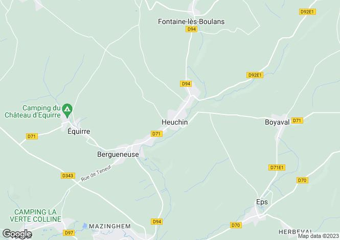 Map for heuchin, Pas-de-Calais, France