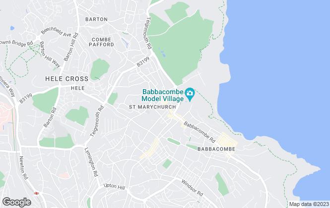 Map for Ridgewater, Torquay