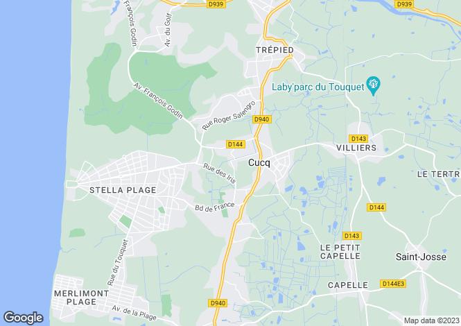 Map for cucq, Pas-de-Calais, France
