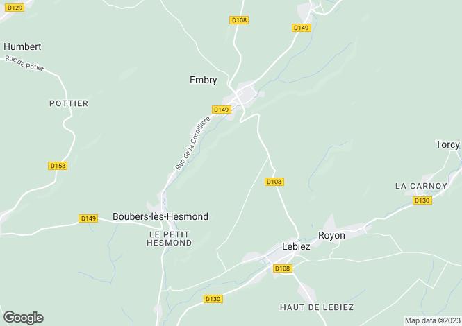 Map for Embry, Pas-de-Calais, Nord-Pas-de-Calais