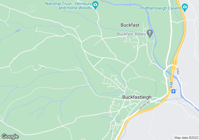 Map for Oaklands Road, Buckfastleigh, Devon