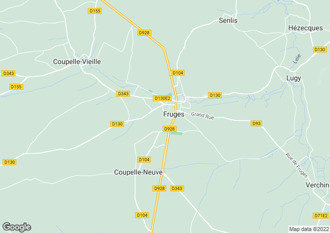 Map for fruges, Pas-de-Calais, France