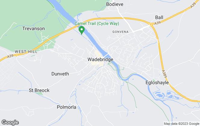 Map for Jefferys, Wadebridge