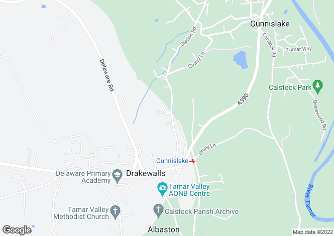 Map for Station Road, GUNNISLAKE