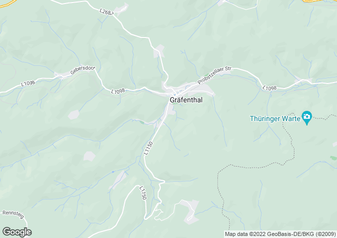 Map for Gräfenthal, Thuringia