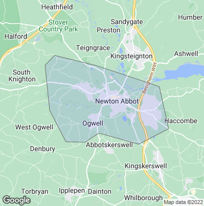 Map of property in Newton Abbot