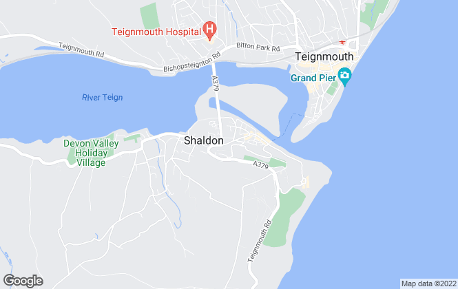 Map for Bradleys, Shaldon