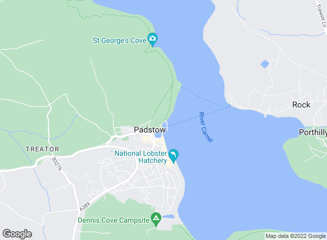 Map for Jackie Stanley, Padstow