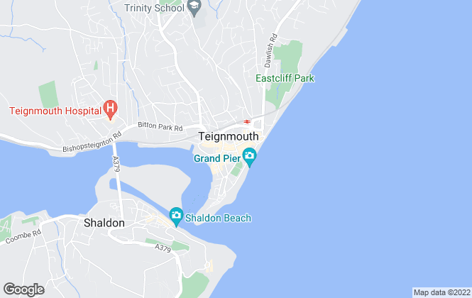 Map for Bradleys Property Rentals, Teignmouth