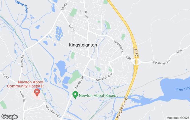 Map for Fulfords, Kingsteignton