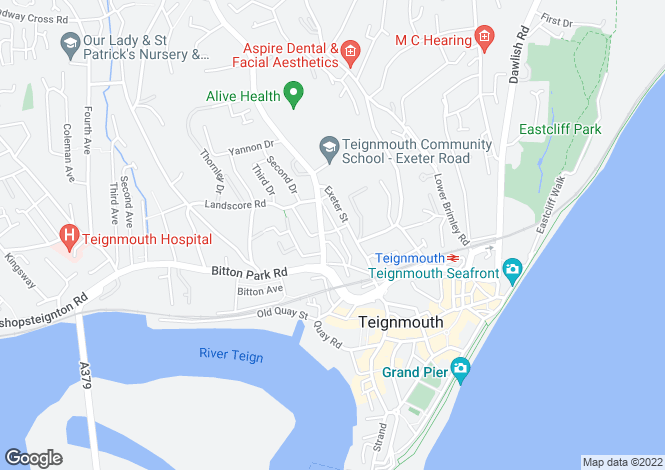Map for Grove Terrace, Teignmouth
