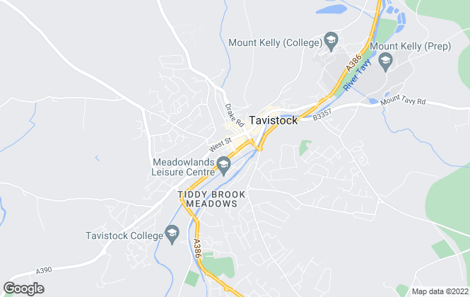 Map for Mansbridge Balment, Tavistock