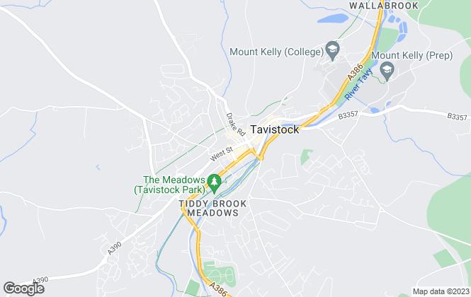Map for Salisburys, Tavistock