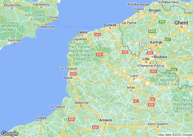 Map for Near Montreuil-sur-Mer, Pas-de-Calais, Nord Pas-de-Calais