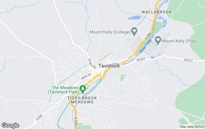 Map for Tavistock Lettings, Tavistock