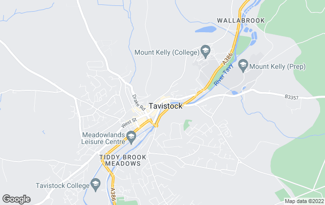 Map for Fulfords, Tavistock