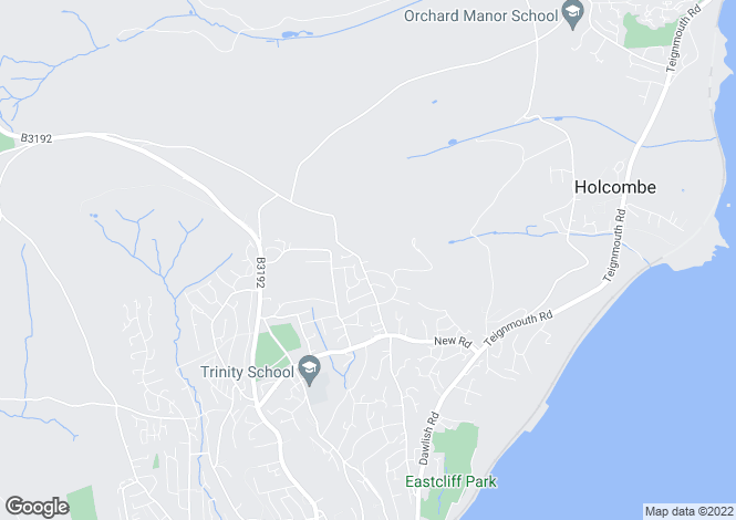 Map for Thatcher Drive, TEIGNMOUTH