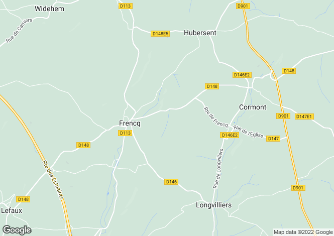 Map for frencq, Pas-de-Calais, France