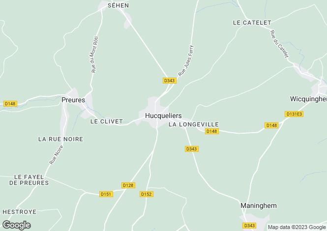 Map for Hauts-de-France, Pas-de-Calais, Wicquinghem