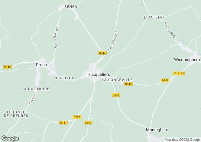 Map for North-Calais, Pas-de-Calais, Wicquinghem