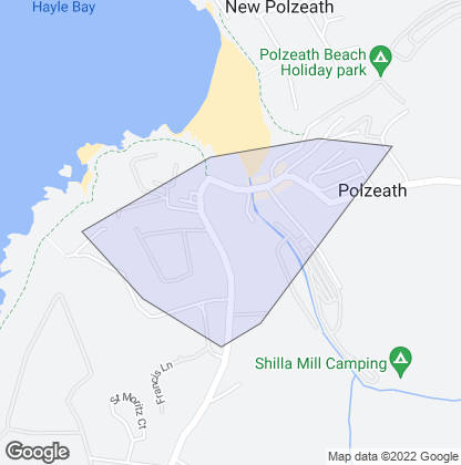 Map of property in Polzeath