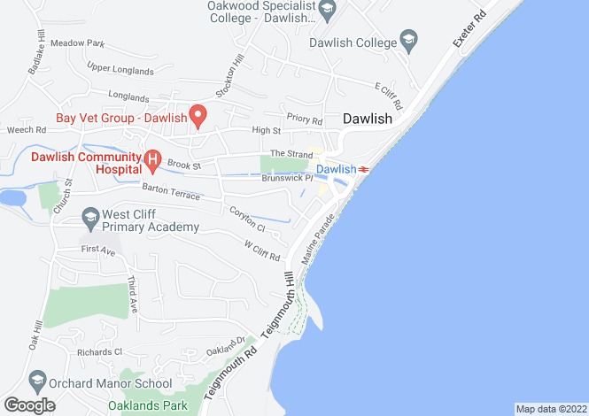 Map for Plantation Terrace, Dawlish, Devon