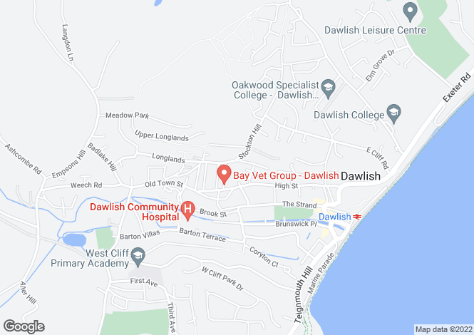 Map for Haldon Terrace, Dawlish, EX7