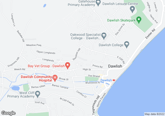 Map for Greystoke, 3 Stockton Avenue, Dawlish