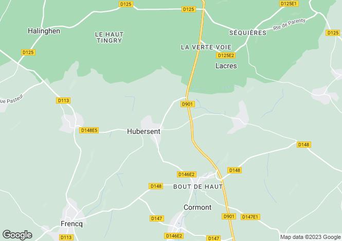 Map for hubersent, Pas-de-Calais, France