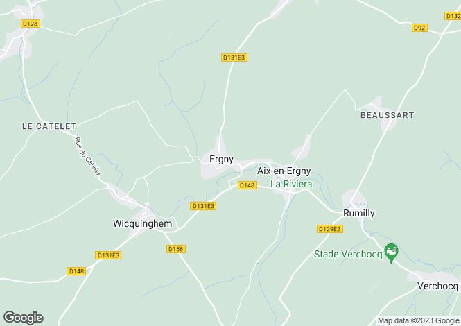 Map for ergny, Pas-de-Calais, France