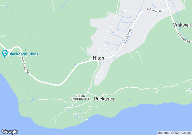 Map for Niton, Niton