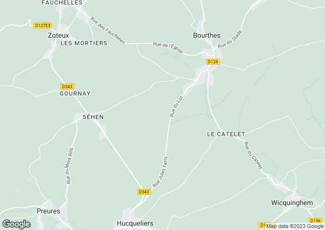 Map for Hucqueliers, Pas-De-Calais, 62650, France