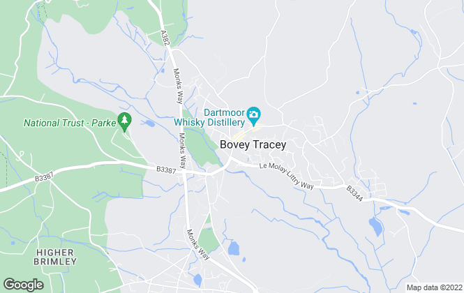 Map for Bradleys Property Rentals, Bovey Tracey