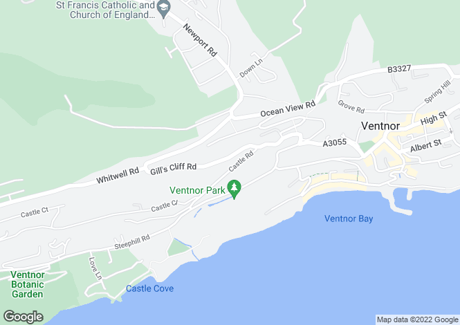 Map for Castle Road, Ventnor