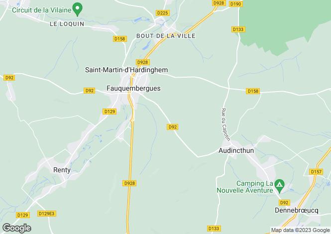 Map for Near Fauquembergues, Pas-de-Calais, Nord Pas-de-Calais