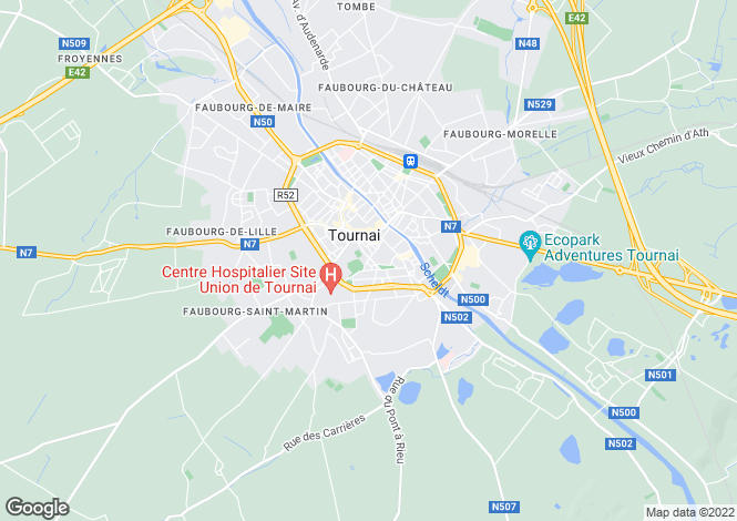 Map for Hainaut, Tournai, Tournai