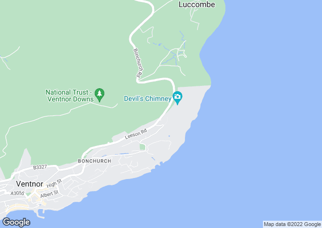 Map for Upper Bonchurch, Isle Of Wight